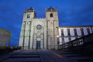 Porto Cathedral by Night in Portugal