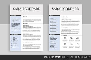 Simple CV Resume Set