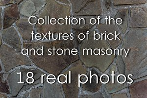Textures of brick and stone masonry