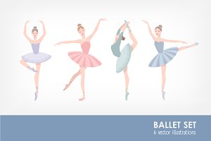 Set of ballet dancer