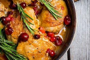 Roasted christmas chicken