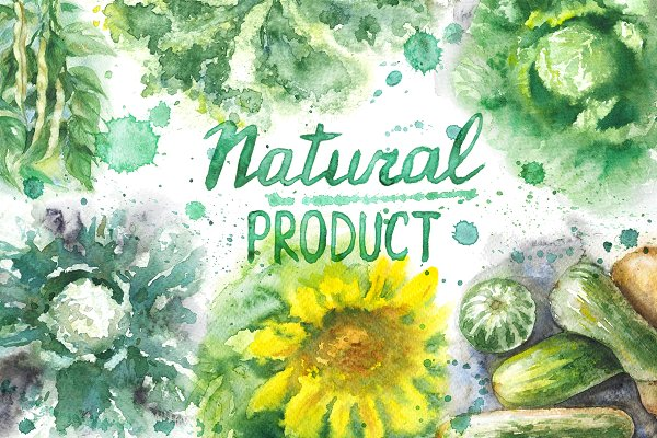 Natural Product Watercolor