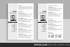 Minimal Resume/ CV Set