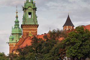 Wawel Cathedral Towers and Castle