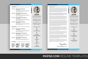 Clean Modern Resume Set