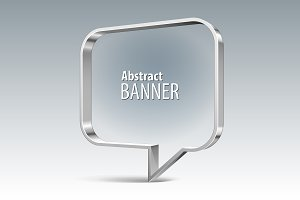Shiny metal vector vector banner