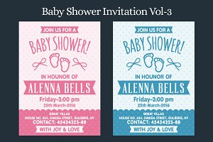 Baby Shower Invitation Vol-3