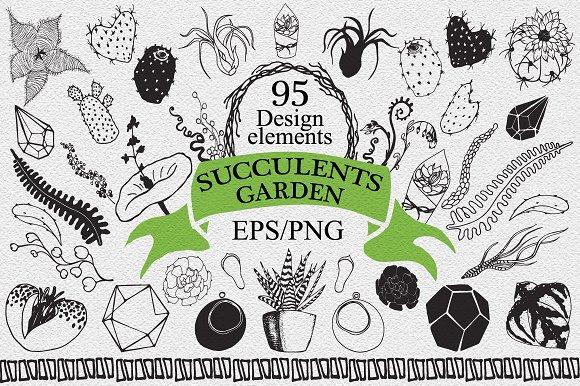 Succulents garden design elements