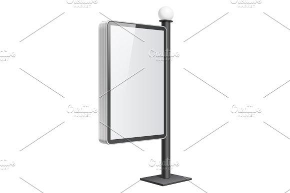 Realistic vector light box in Mockup Templates