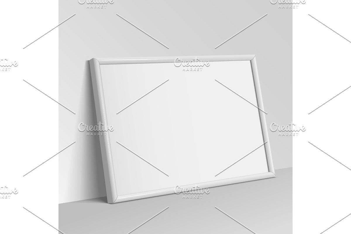 Realistic white horizontal frame