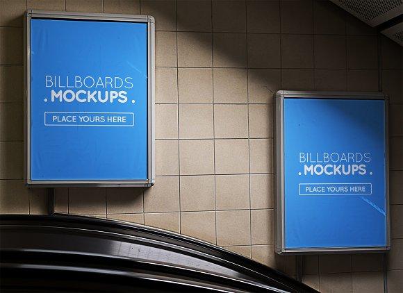 Subway Billboard Mockup #4