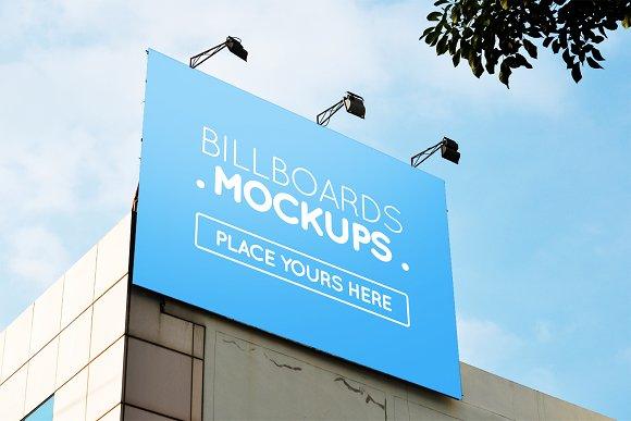 Billboard Mockup On Building #12