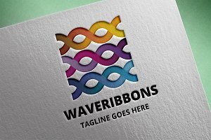Wave Ribbons Logo