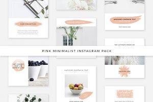 Pink Minimalist Instagram Pack