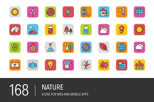 168 Nature Vector Icons