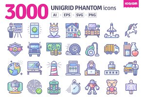 3000 Unigrid Phantom icons