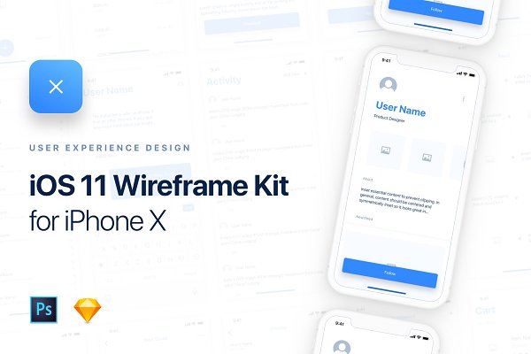 Web Elements: Panoply Store - UIXO iOS 11 Wireframe Kit