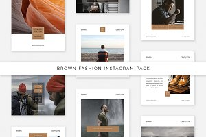Brown Fashion Instagram Pack