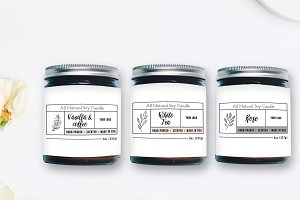 Candle Label Templates