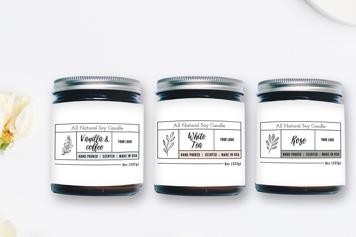 Candle Label Templates ~ Stationery Templates ~ Creative Market