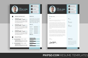Clean & Bright CV  Resume Template
