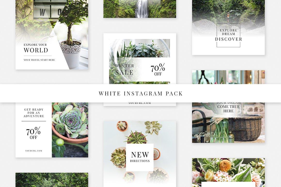 White Instagram Pack