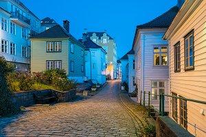 Nedre Strangehagen Street in Bergen Norway