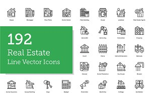 192 Real Estate Line Icons