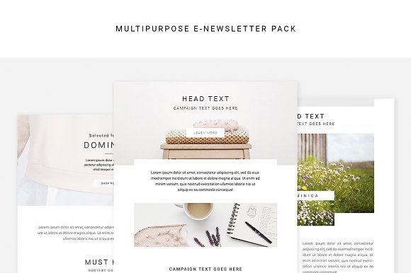 Multipurpose E-newsletter Pack