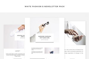 White Fashion E-newsletter Pack