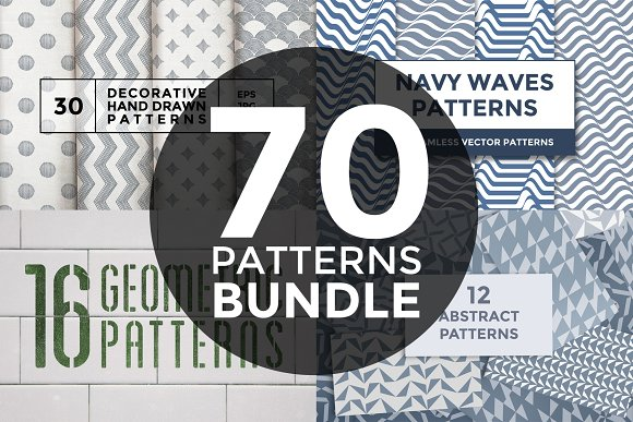 45% OFF 70 patterns bundle