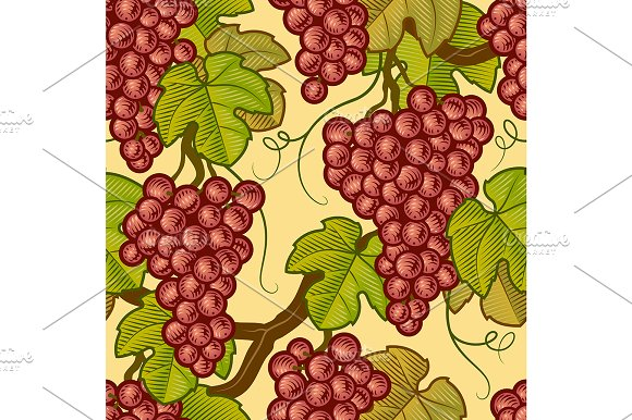 Seamless Grapes Pattern in Patterns - product preview 1