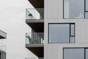 Modern apartment building in Bergen Norway