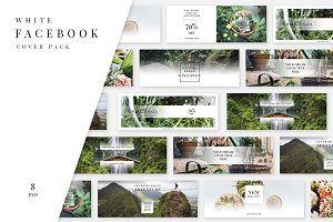 White Facebook Cover Pack