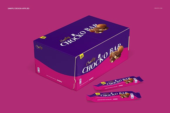 Chocolate Bar Box Mockup Set in Product Mockups - product preview 3