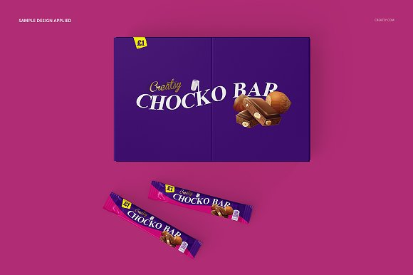 Chocolate Bar Box Mockup Set in Product Mockups - product preview 5