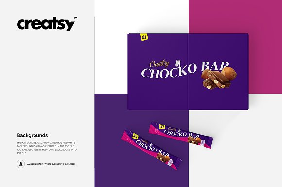 Chocolate Bar Box Mockup Set in Product Mockups - product preview 8