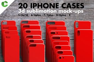 IPHONE CASE MOCK-UP 3d print