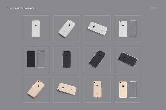iPhone 8 Clear Case Mockup Set in Product Mockups - product preview 2