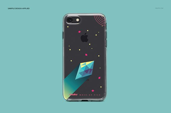 iPhone 8 Clear Case Mockup Set in Product Mockups - product preview 3