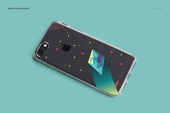 iPhone 8 Clear Case Mockup Set in Product Mockups - product preview 4