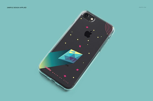 iPhone 8 Clear Case Mockup Set in Product Mockups - product preview 5