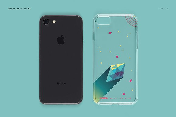 iPhone 8 Clear Case Mockup Set in Product Mockups - product preview 6