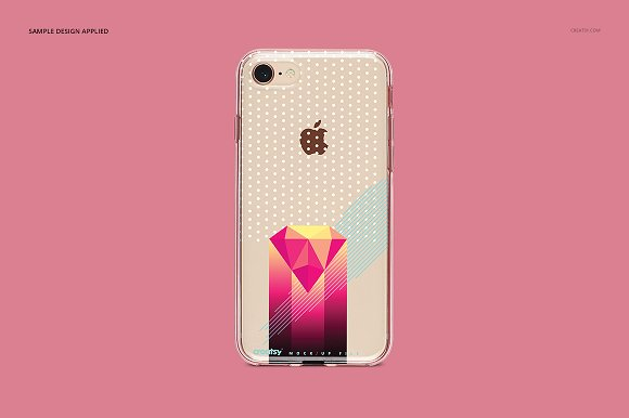 iPhone 8 Clear Case Mockup Set in Product Mockups - product preview 7
