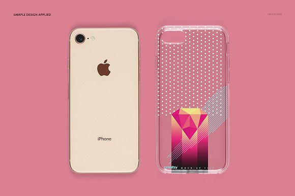 iPhone 8 Clear Case Mockup Set in Product Mockups - product preview 8