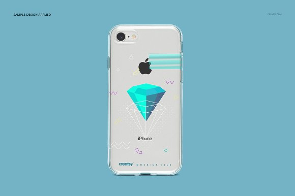 iPhone 8 Clear Case Mockup Set in Product Mockups - product preview 11