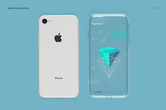 iPhone 8 Clear Case Mockup Set in Product Mockups - product preview 12