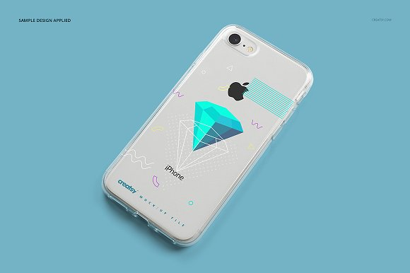 iPhone 8 Clear Case Mockup Set in Product Mockups - product preview 13