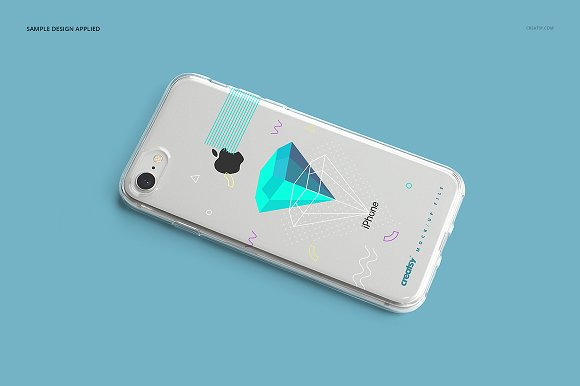 iPhone 8 Clear Case Mockup Set in Product Mockups - product preview 14