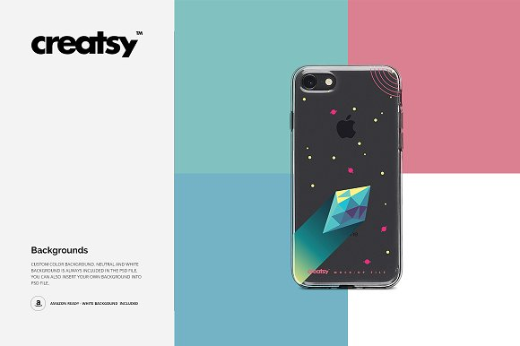 iPhone 8 Clear Case Mockup Set in Product Mockups - product preview 19